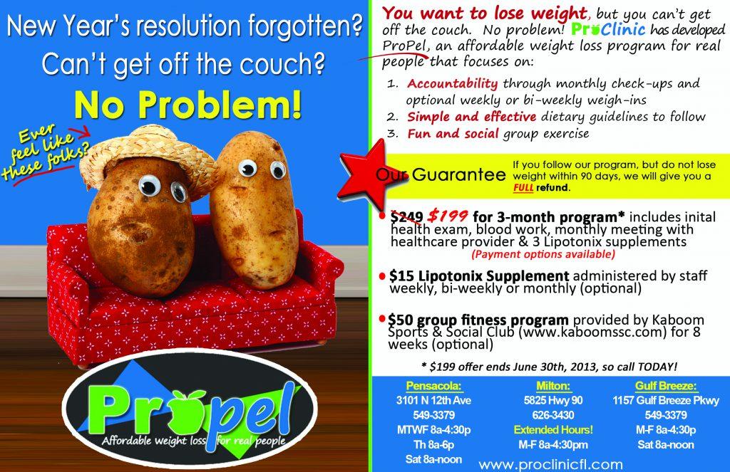 ProPel Weight Loss Program In Pensacola, Gulf Breeze, Milton