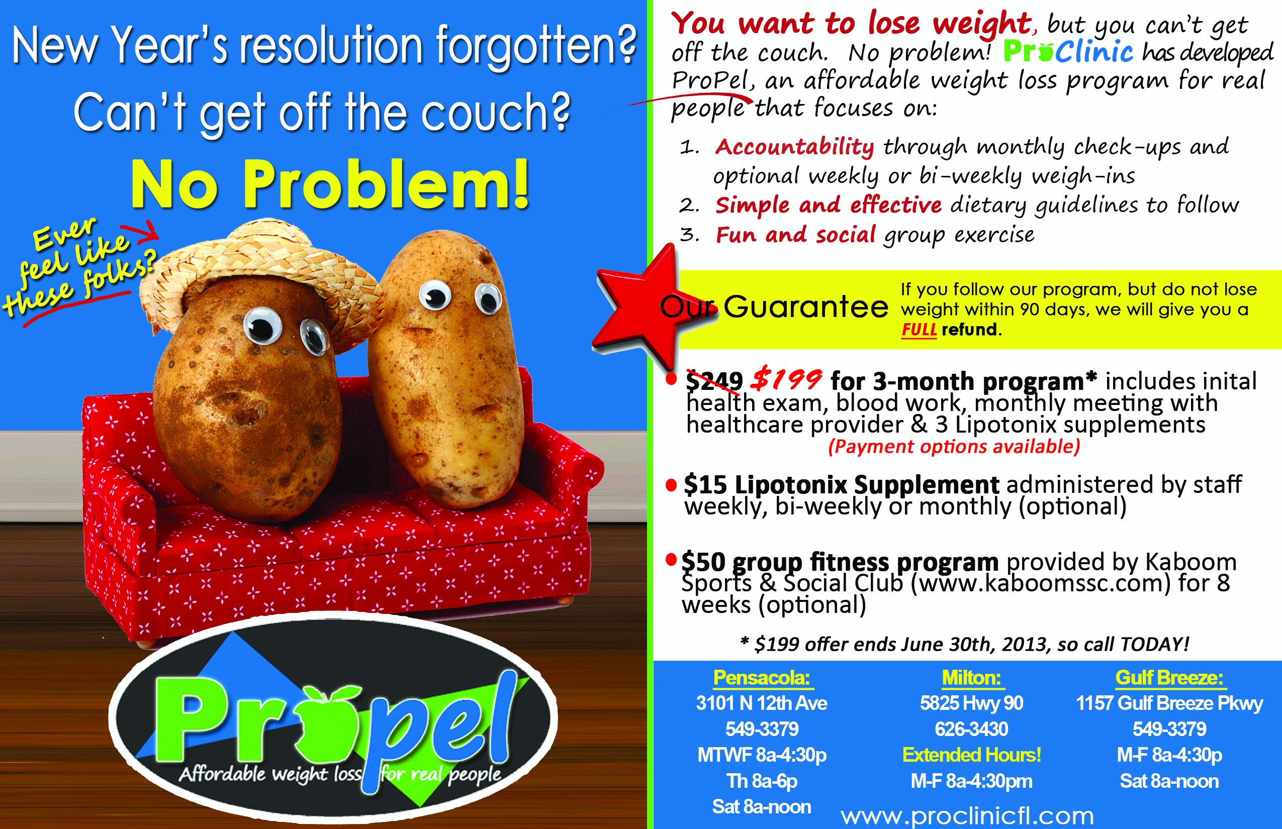 ProPel Weight Loss Program In Pensacola, Gulf Breeze, Milton