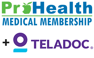 ProHealth Medical Membership Logo and Teladoc Logo