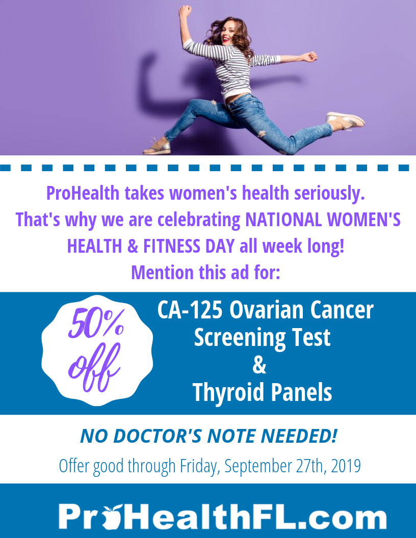 50% off for Women's Health